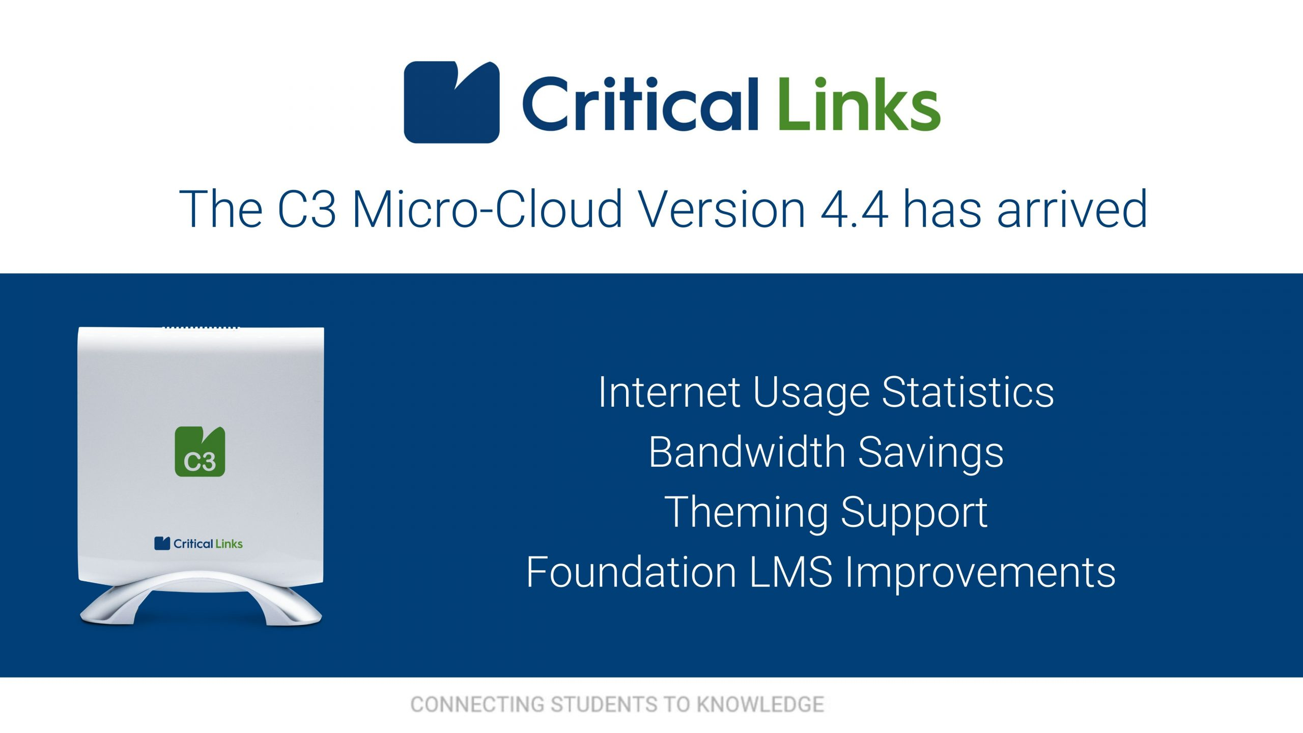 Critical Links Releases C3 Micro-Cloud Version 4.4 to Further Drive Global e-Learning Initiatives